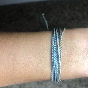 Blue white and grey pura vida bracelet